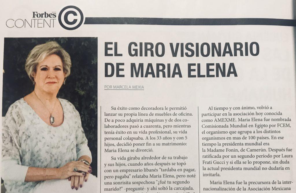 El giro visionario de María Elena